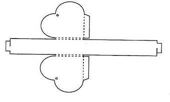 Как сделать коробку сердце из картона своими руками схема