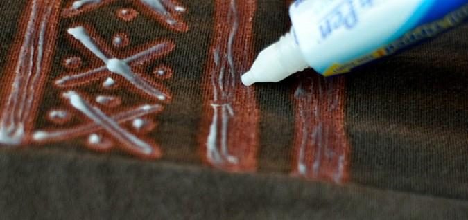 Отбелить одежду с рисунком